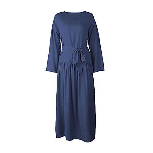 Mujer Maxi Vaina Un TTSKIRT Navyblue Vestido Color XL Básico aqZn4p