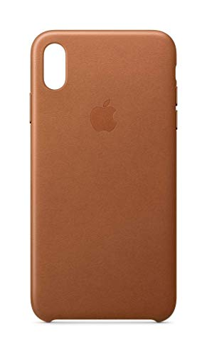 (Apple Leather Case (for iPhone Xs Max) - Saddle Brown )