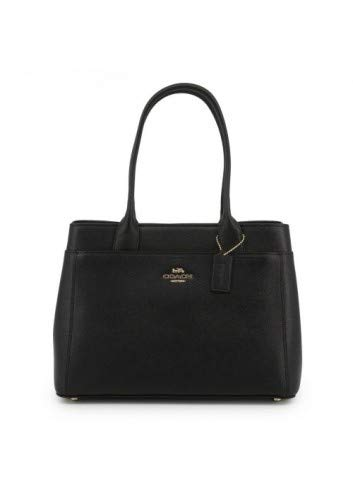 Leather Casey Tote Shoulder Bag in Black Leather