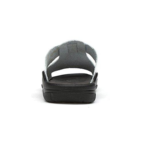 White 41 sandalias de EU antideslizantes genuino de para shoes Juans hombre cocodrilo playa de clásico Pantuflas Zapatos Color vaca de White los Zapatos Size cuero de hombres con casuales textura 4TfBqpw