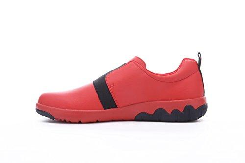 UIN Mens Guyana Fashion Microfiber Walking Shoes Red Gp8HCio