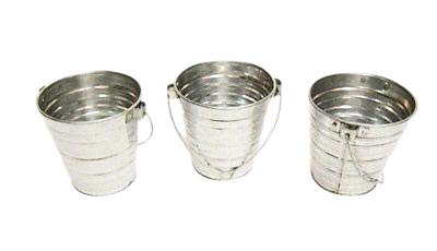 Carvers Olde Iron 3pc buckets 2 qt metal - Tin Pails Decorative