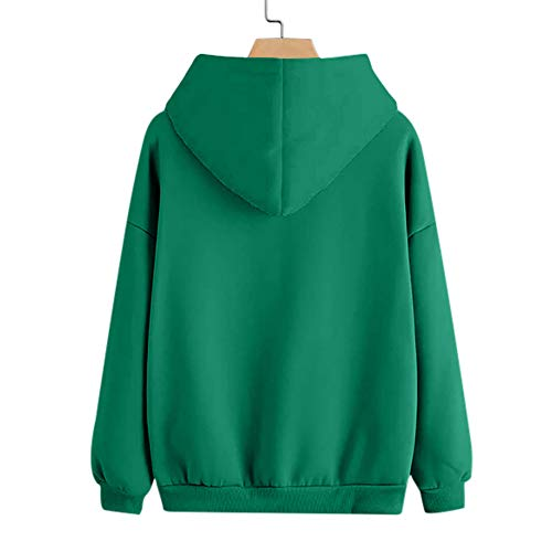Crewneck Women's Casual Long Shirt Tops Printed Pullover Hooded Sweater Jacket Green Hoodie Outwear Blouse Sweatshirt Coat Sleeve Feather qrZrwtC