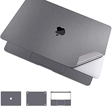 Sliver Model Number A1708, 2016 /& 2017 Premium 5-in-1 MacBook Full Body 3M Protective Skin Decals Stickers for MacBook Pro 13 Inch Without Touch Bar