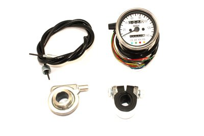 - V-Twin 39-0556 Mini 60Mm Speedometer With 2:1 Ratio