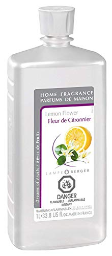 Lemon Flower | Lampe Berger Fragrance Refill for Home Fragrance Oil Diffuser | Purifying and perfuming Your Home | 33.8 Fluid Ounces - 1 Liter | Made in France
