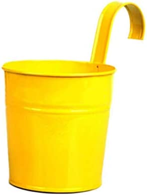 [해외]NATFUR Durable Practical Flower Pot Family Supplies Metal Bucket Iron Flower B98B | Colors - Yellow / NATFUR Durable Practical Flower Pot Family Supplies Metal Bucket Iron Flower B98B | Colors - Yellow