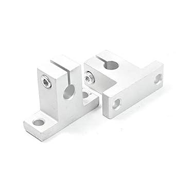 INVENTO - 8 soportes SK8 para barra lineal de 8 mm, eje, soporte ...