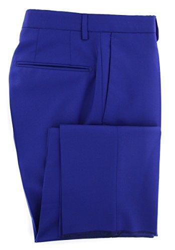 Incotex Dress Pants - Incotex Blue Solid Pants - Slim - 36/52