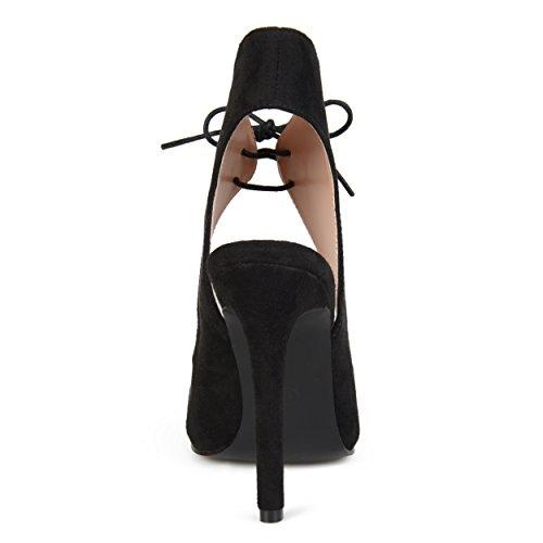 Collezione Donna Scarpa Da Donna Open Toe Con Tacco Alto Nero