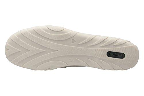 Remonte Damen Spangenballerinas - Grau Schuhe in Übergrößen