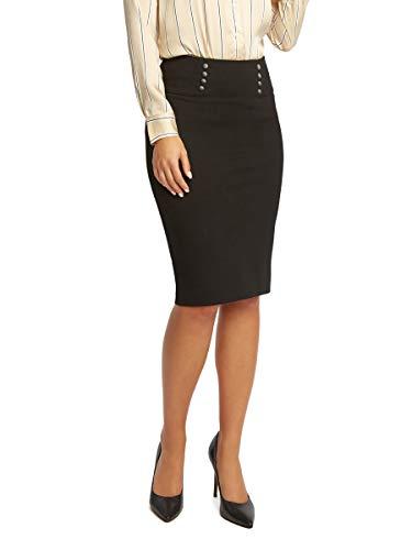 (89th + Madison Women's Ponte Sailor Pencil Skirt Black)