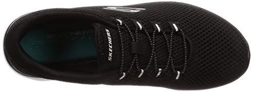 Bkw Summits Skechers Mujer Para Zapatillas white black Negro qnf4n07x