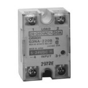 Omron G3NA-210B-UTU DC5-24 Solid State Relay, VDE Certified Model, Zero Cross Function, Yellow Indicator, Phototriac Coupler Isolation, 10 A Rated Load Current, 24 to 240 VAC Rated Load Voltage, 5 to 24 VDC Input Voltage