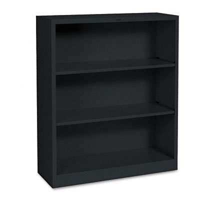 Bookcase Wide Metal - The HON Company HS42ABC.P Brigade Metal Bookcase with Three Shelves, 3-Shelf,