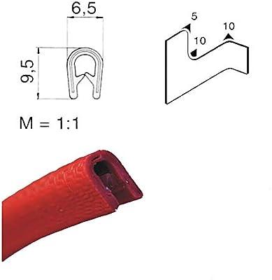 /2/mm 3/m /1/ eutras Protector de bordes 2173/ks1058/R22711102/Perfil refuerzo/ Rojo