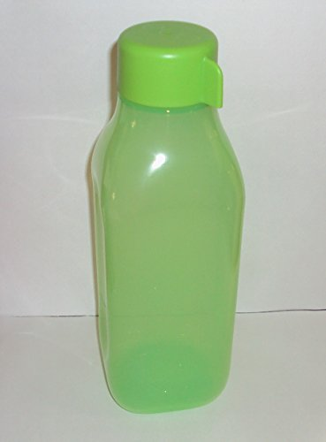 Tupperware Eco Square Water Bottle - 1 QT/ 1 L Lime Green