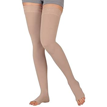 fe128dc0ed7 Amazon.com  Juzo Varin Thigh High w Waist Attachment 30-40mmHg Open ...