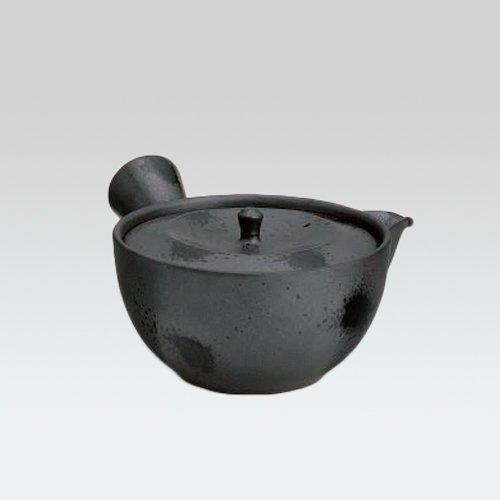 TOKYO MATCHA SELECTION - Arita-yaki Kyusu teapot - Quenching - 300cc/ml - daiwan ami stainless steel net - [Standard ship by SAL: NO Tracking number & Insurance]