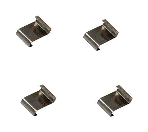 Bulk Hardware BH03660 Clips de vitrage de type W/boucle en Z en Acier Inox, Set de 100 Pièces Bulk Hardware Limited