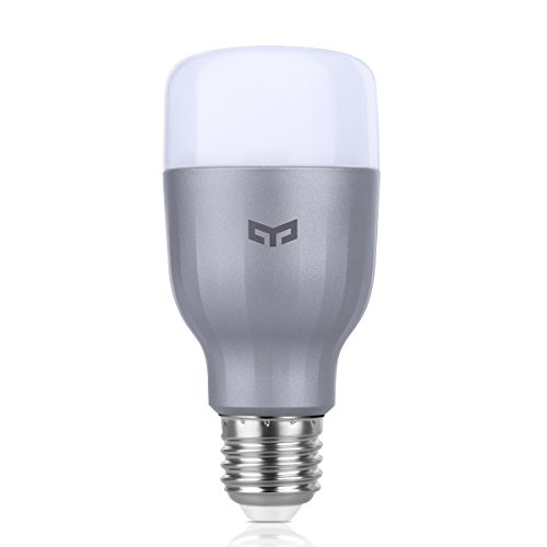 Price comparison product image Yeelight E26 Smart LED Light Bulbs 9W 16 Million Colors 1700-6500K Adjustable White Light Wi-Fi Control Works with IFTT,Amazon Alexa & Google Assistant,1 PackSilver