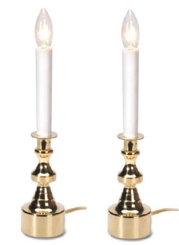 Darice 6203-03 12 inch, Electric Candle lamp, Large Gold Bas