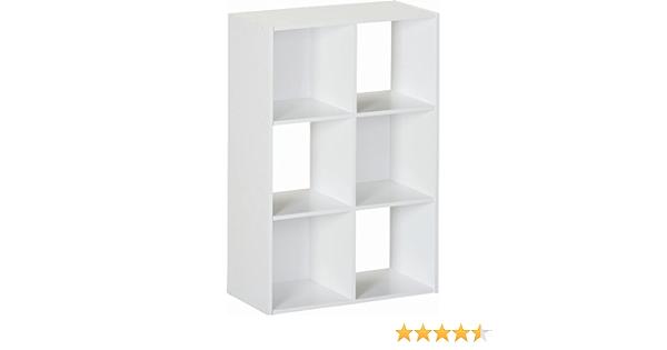 Amazon Com Ameriwood 6 Cube Storage Unit White Furniture Decor