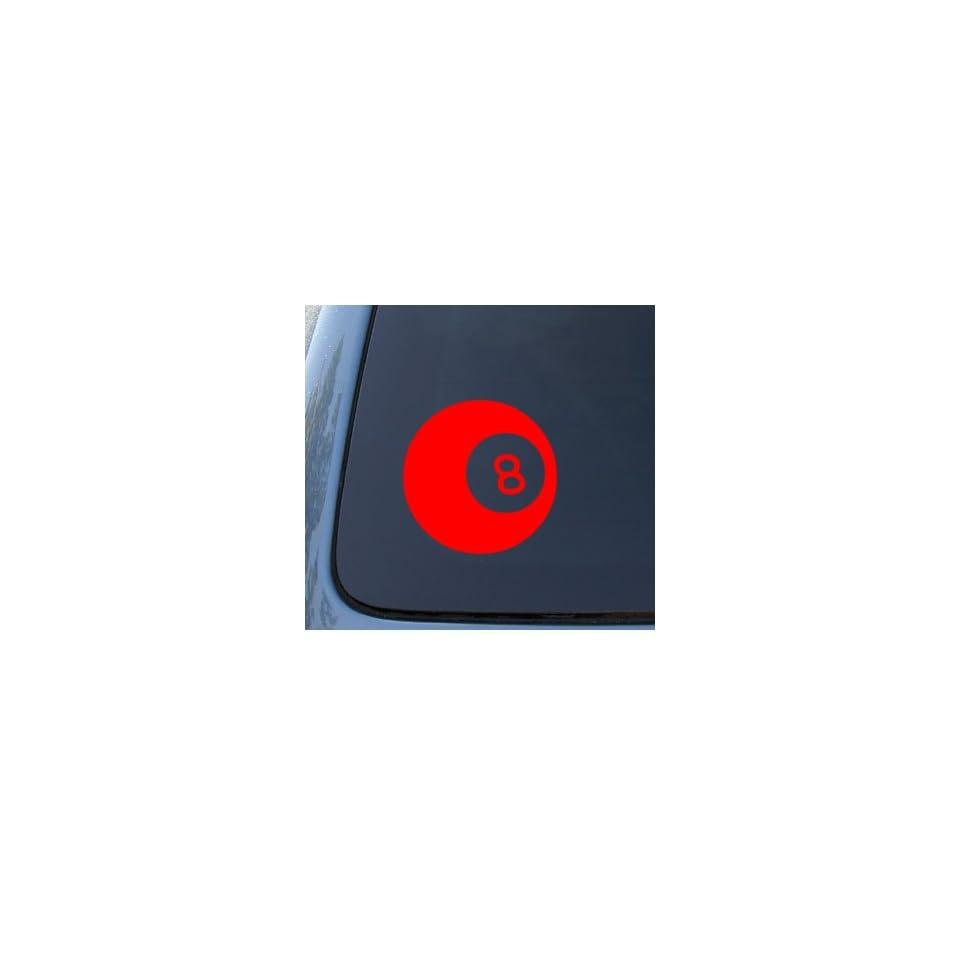 EIGHT BALL   Billiards 8 ball   Car, Truck, Notebook, Vinyl Decal Sticker #1085  Vinyl Color Red
