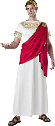 Adult Caesar Costumes (Fun World Men's Julius Caesar, White/Red, M)