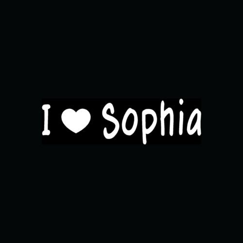 (I LOVE SOPHIA Sticker Cute Teen Heart Vinyl Decal School Girl Boy Friend Gift :) - Die cut vinyl decal for windows, cars, trucks, tool boxes, laptops, MacBook - virtually)