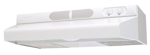 - Air King ESDQ1303 Energy Star Deluxe Quite Under Cabinet Range Hood, 30 Inch Wide, White