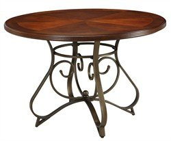 Powell's Furniture Hamilton Dining Table in Medium Cherry Finish