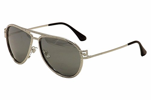 Versace Women's VE2171B Sunglasses Silver/Gray Mirror Silver - Sunglasses 2171