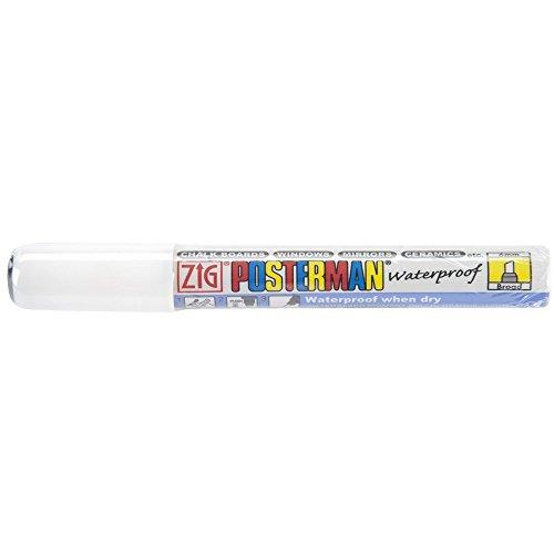 Metal Markers Sanford (Zig 6mm Posterman Broad Chisel Tip Marker, White)