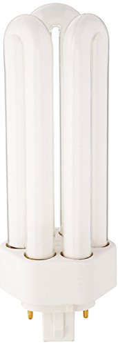 GE 97630 (50-Pack) F32TBX/830/A/ECO 32-Watt Energy Smart Ecolux Triple Tube Compact Fluorescent Light Bulb, 3000K, 2400 Lumens, 82 CRI, T4 Shape, 4-Pin GX24q-3 Base by GE
