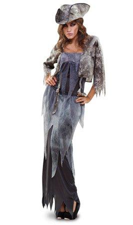 Disfraz de Fantasma Pirata para mujer: Amazon.es: Juguetes y juegos