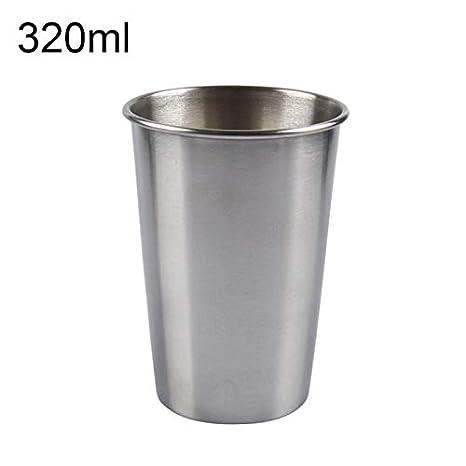 DASEXY - Vaso para Vino (Acero Inoxidable Pulido, 320 ml ...