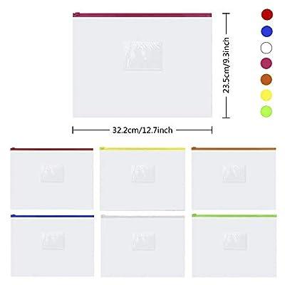 EOOUT Poly Envelope, 20pcs Clear Plastic Waterproof Envelope Folder with Button Closure, A4 Size (14 pcs)