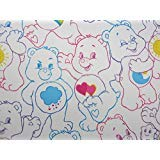 Care Bears Rainbow Day 100% Polyester (Flat Sheet ONLY) Size Boys Twin Girls Kids Bedding