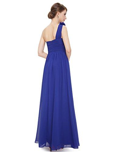 Azul Fiesta Verano Zafiro Boda Honor Pretty para Elegante Dama Largo de Cóctel Mujer Vestido Ever 08237 de Vestido qfawpxXH