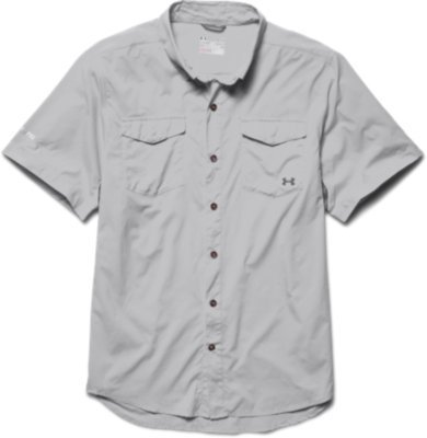 Under Armour Men's Iso-Chill Flats Guide S/S Shirt Elemental / Graphite ()