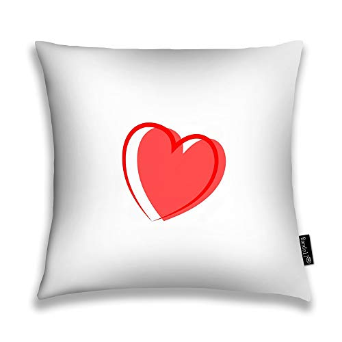 Randell Throw Pillow Covers Heart Around As Symbol of Linked Join Love Home Decorative Throw Pillowcases Couch Cases 24