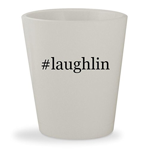 #laughlin - White Hashtag Ceramic 1.5oz Shot - Nv Casino Laughlin