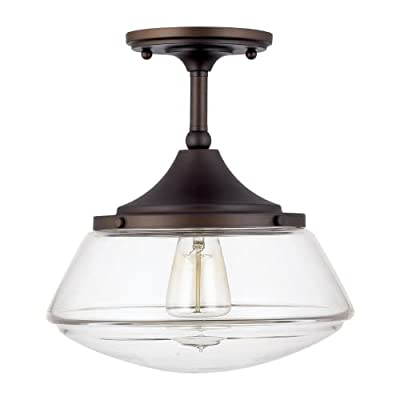 Capital Lighting 3533PN-129 Capital Ceiling 1 Light Semi Flush,Polished Nickel