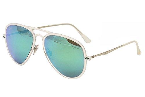 Ray-Ban Women's Tech Light Aviator Sunglasses, Matte Transparent/Green Mirror, One - Matte 601s71