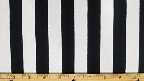 (Rayon Spandex Knit Black&White Stretch Stripe Yarn Dye Fabric (2)
