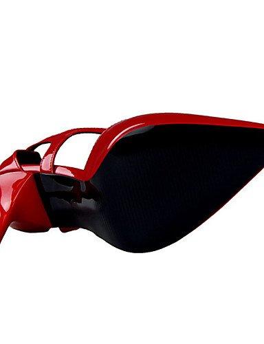 Eu38 Cn38 Ggx talons Aiguille 5 À Argent Nu polyuréthane 5 Rouge noir Femme décontracté Chaussures us7 talon Uk5 chaussures Talons Beige Beige rwU1r