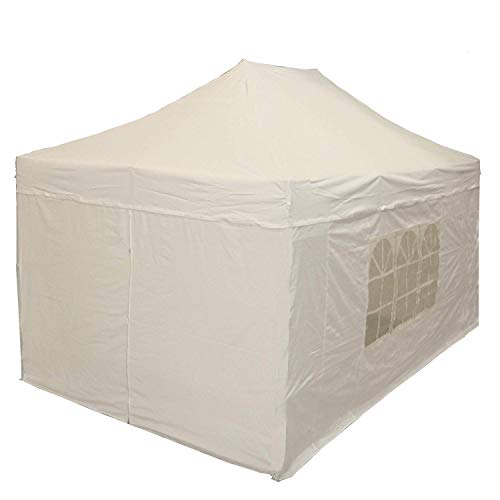 DELTA Canopies 10'x15' Ez Pop up Canopy Party Tent Instant Gazebos 100% Waterproof Top with 4 Removable Sides White - E Model