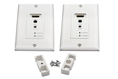 AVUE Wall plate HDMI Extender Over Cat5e or Cat6 cables up to 200 Feet with IR, support 3D