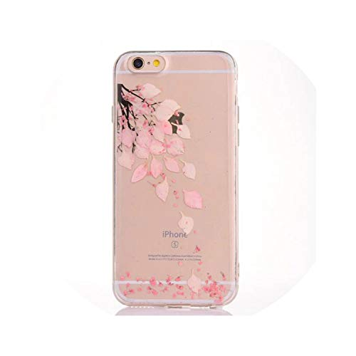 Real Flower Cases for iPhone Xs Max XR 6 6S 7 8 Plus XS X Dried Floral Transparent Soft TPU Phone Back Cover Cases Gifts,13,for iPhone X or XS